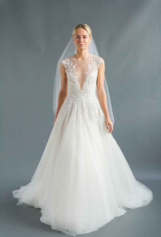 sabrina-dahan-2016-v-neck-wedding-dress-with-a-line-skirt-and-illusion-beaded-straps