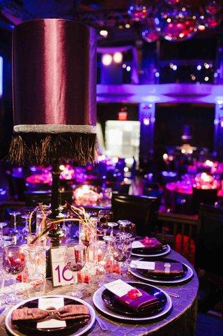 purple-lampshade-wedding-centerpiece-with-tassels