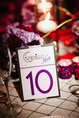 theater-wedding-title-on-reception-table-number-card