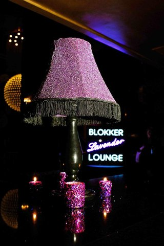purple-lamp-shade-with-black-beads-and-glitter-candles
