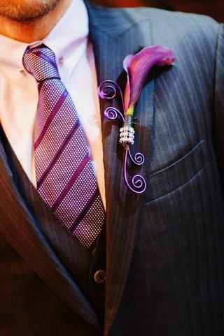scott-blokker-purple-wedding-boutonniere