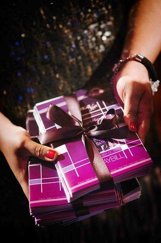 purple-theatre-ceremony-programs-for-insanitys-shaun-t-wedding