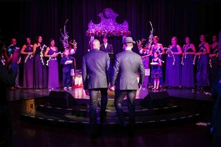 gay-wedding-with-purple-altar-and-lighting-at-nyc-theatre