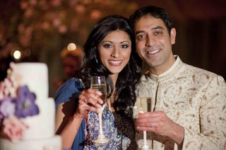 actress-reshma-shetty-toasts-with-her-groom-at-their-wedding-reception