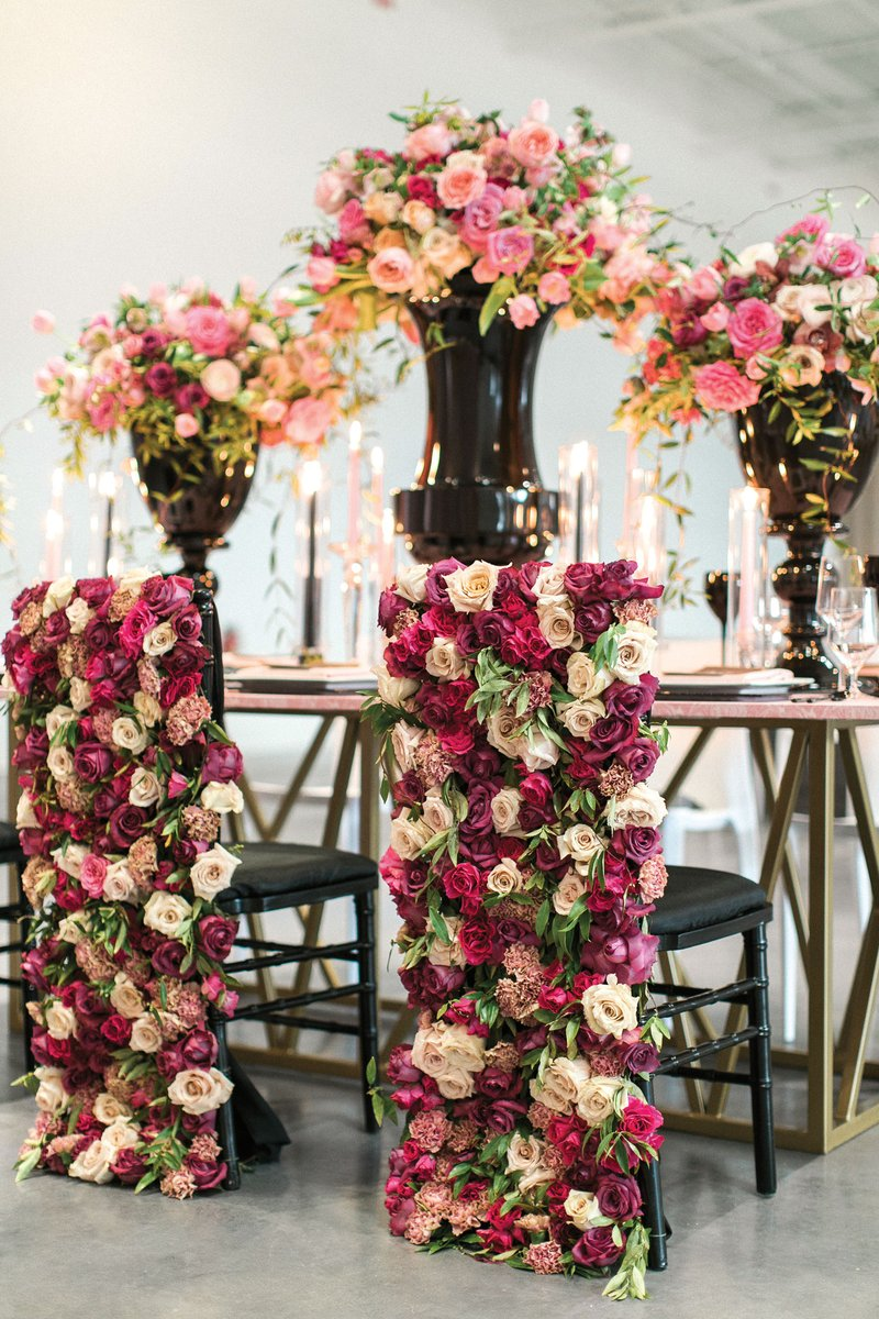 Tall Centerpieces & Floral Chair Covers