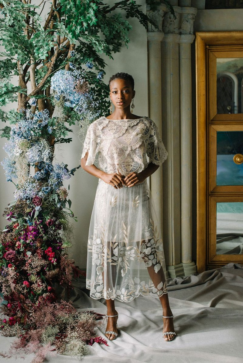 """Nocturne"" Skirt & ""Helena"" Tee by Claire Pettibone"