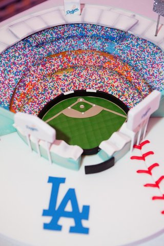 grooms-cake-with-sprinkles-in-shape-of-baseball-stadium
