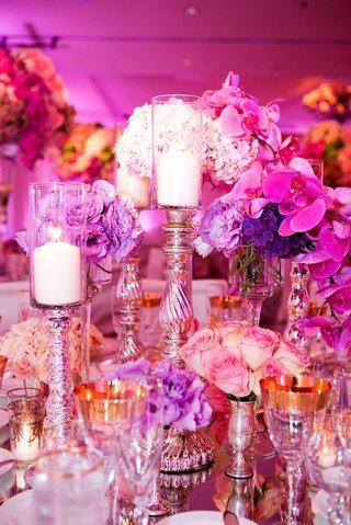 fuchsia-orchids-and-purple-flower-wedding-centerpiece