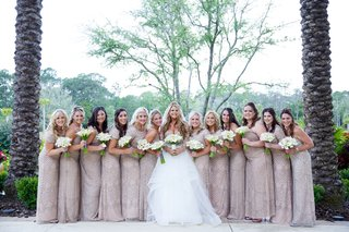 bride-in-hayley-paige-ball-gown-with-tulle-skirt-bridesmaids-in-adrianna-papell-beaded-gowns