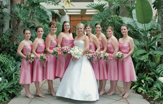 the-bride-and-her-bridesmaids