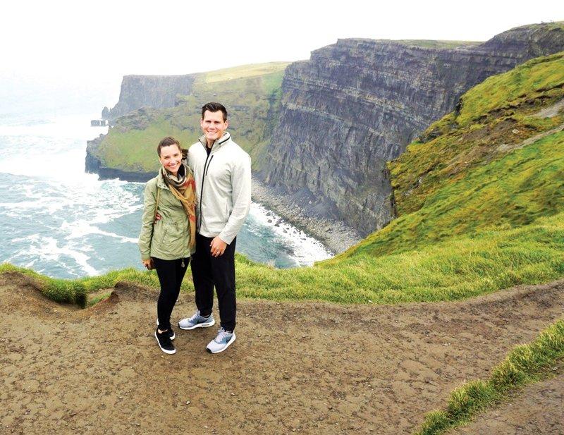 Cliffs of Moher on Honeymoon