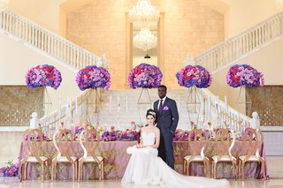 regal-wedding-styled-shoot-interracial-couple-interracial-bride-and-groom