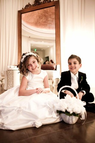 white-dress-flower-girl-and-tuxedo-ring-bearer