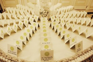 wedding-seating-cards-in-calligraphy-with-green-monogram