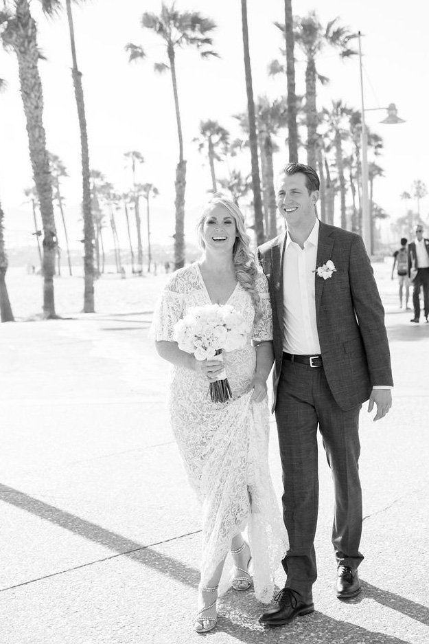 Black & White Wedding Portrait by Maya Myers