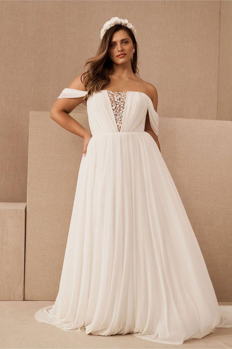 """""""Ryder"""" Off-Shoulder Wedding Dress"""