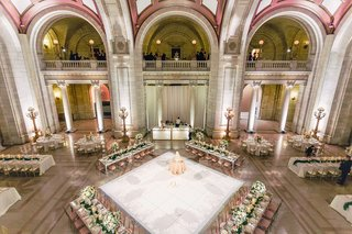wedding-reception-ballroom-the-old-courthouse-pink-white-gold-greenery-color-palette