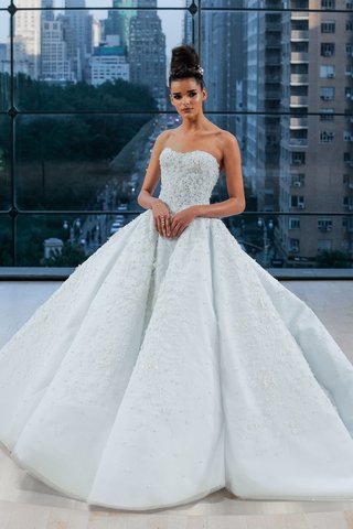 tiffany-ines-di-santo-fall-2018-light-blue-wedding-dress-ball-gown-with-cathedral-train-strapless