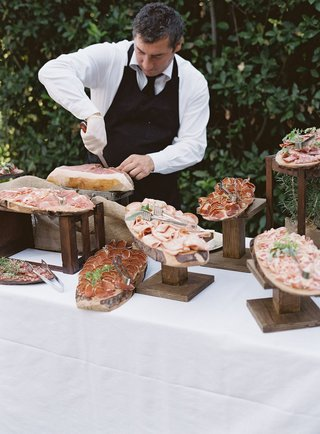 wedding-reception-cocktail-hour-destination-wedding-meat-carver-prosciutto-and-salami-italy