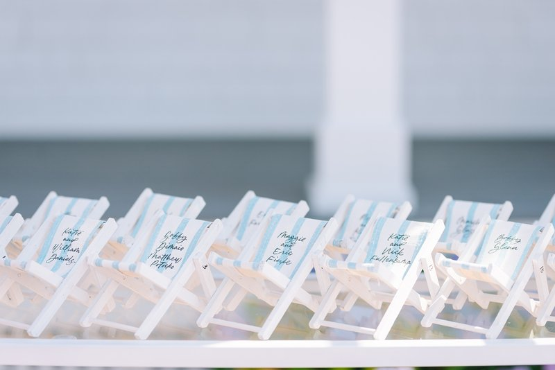 Beach Chair Escort Cards