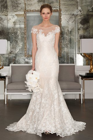 romona-keveza-collection-bridal-spring-2017-illusion-neckline-wedding-dress-with-applique-details