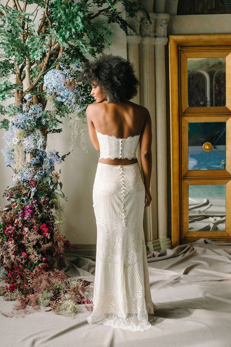 """Antoinette"" Long Skirt & Bustier by Claire Pettibone"
