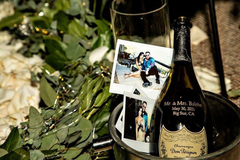 Polaroids of Engagement with Dom Pérignon