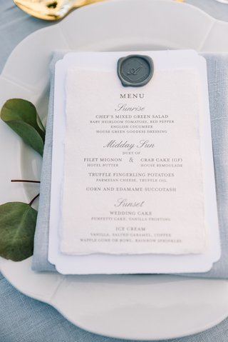 blue-grey-napkin-and-linens-grey-wax-seal-on-menu
