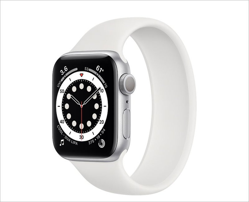 Apple Watch Series 6 with White Band