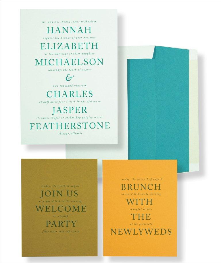 Elizabeth Grace Color Block Invitation