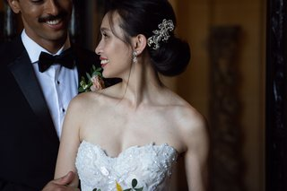 bride-with-low-updo-and-jeweled-clip-on-the-side