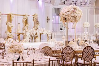 wedding-reception-castle-venue-gold-white-high-low-centerpieces-bride-and-groom-gold-sweetheart