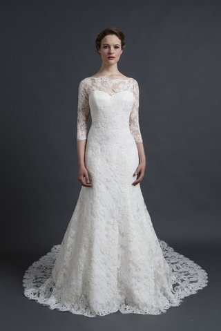 three-quarter-sleeve-lace-gown-by-sareh-nouri-spring-2016