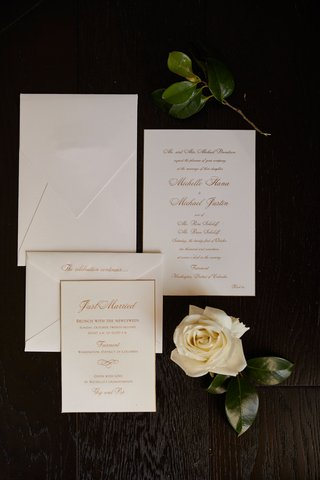 wedding-invitation-white-stationery-with-gold-calligraphy-envelope-invitation