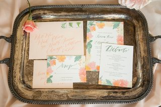 peach-envelopes-and-floral-invitation-suites-with-pink-orange-and-greenery
