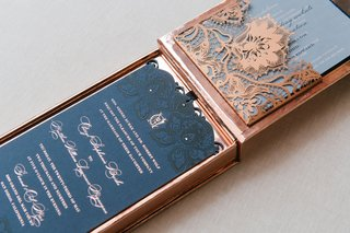 cheryl-burke-and-matthew-lawrence-wedding-invitation-designed-by-lehr-and-black-lace-pattern-navy