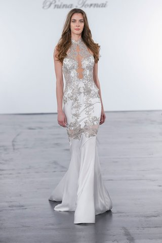 pnina-tornai-for-kleinfeld-2018-wedding-dress-high-neck-silver-crystal-embroidery-low-back-sheer