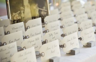 white-tags-with-calligraphy-names-on-wood-stands