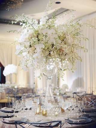 wedding-reception-classic-glass-vase-topped-with-white-orchid-white-rose-white-hydrangea-flowers