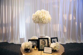 family-late-loved-ones-table-at-reception-with-old-photos-white-flowers-and-if-heaven-signage