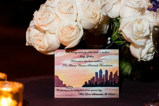 note-card-given-to-guests-at-wedding-with-donation-to-breast-cancer-research-foundation