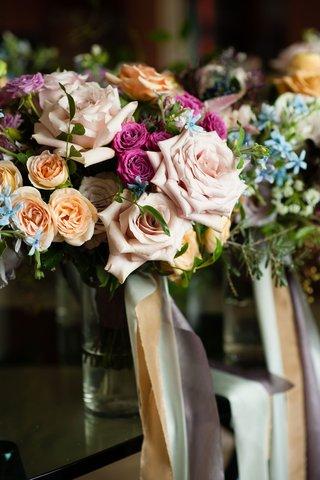 wedding-ideas-colorful-wedding-flowers-pink-rose-lavender-peach-orange-blue-green-flowers