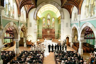 traditional-church-wedding-with-high-ceilings-and-arches