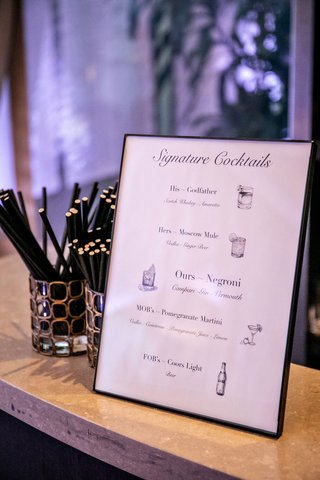 wedding-reception-bar-signature-cocktail-menu-his-hers-ours-mother-of-bride-and-father-of-bride