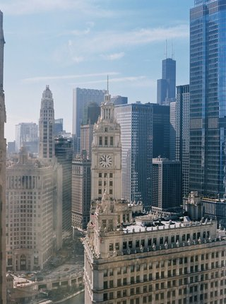 shot-of-chicago-from-hotel-room-intercontinental-chicago-magnificent-mile-high-rise-clock-tower