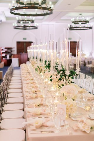long-reception-table-with-blush-linen-and-crystal-candelabra-down-the-center