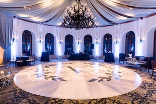 shane-vereen-nfl-player-wedding-reception-dancing-ballroom-drapery-chandelier-large-monogram-circle