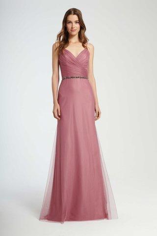monique-lhuillier-bridesmaids-fall-2016-pink-bridesmaid-dress-with-v-neck-wrap-front-bodice