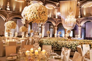 Mindy Weiss Wedding in Mexico white flowers reception inside weddings spring 2020 issue
