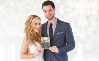 Todd Kapostasy and Tara Lipinski at Engagement Party